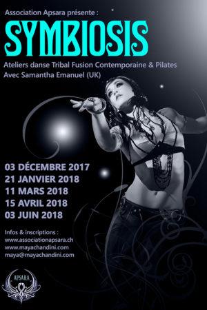 Symbiosis 2017 - 2018 - Ateliers danse Tribal Fusion Contemporaine & Pilates - Association APSARA Genève