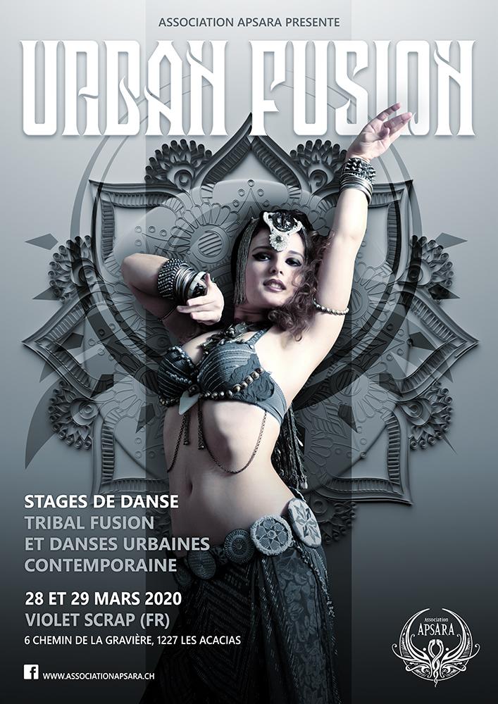 Affiche Urban fusion web - Violet